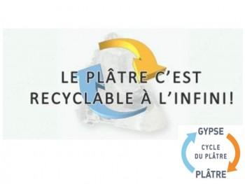 Logo recyclage plâtre